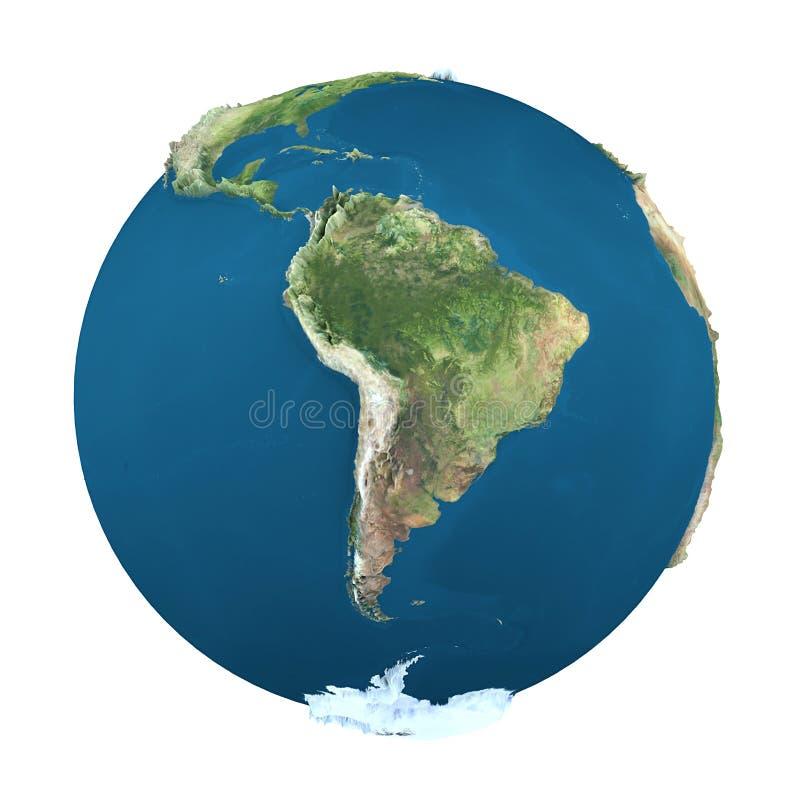 Erdekugel, getrennt auf Weiß lizenzfreie abbildung