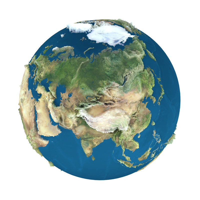 Erdekugel, getrennt auf Weiß vektor abbildung