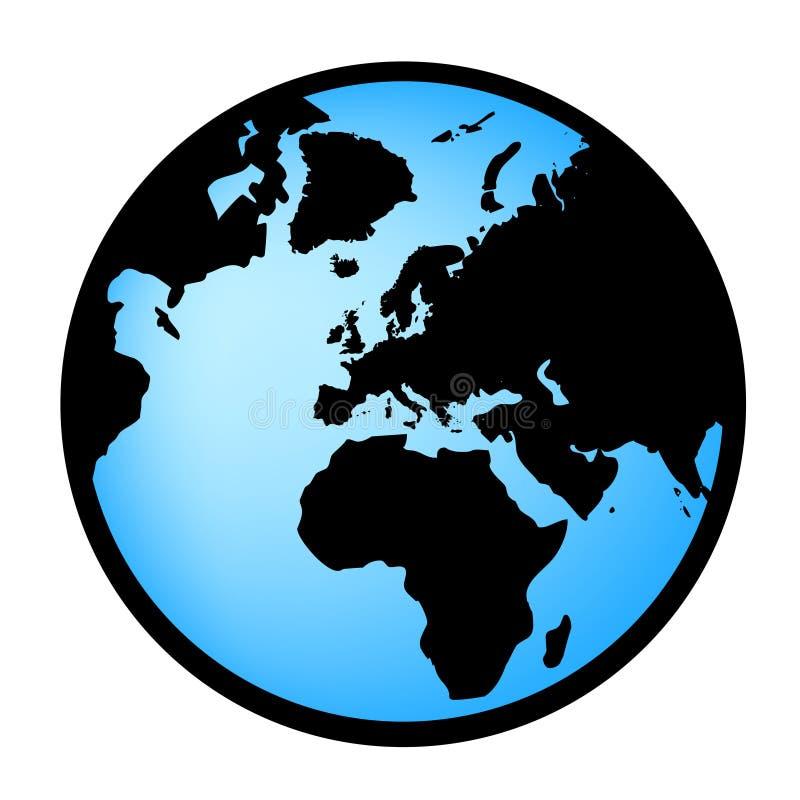 Erdekugel im vectorial Format lizenzfreie abbildung