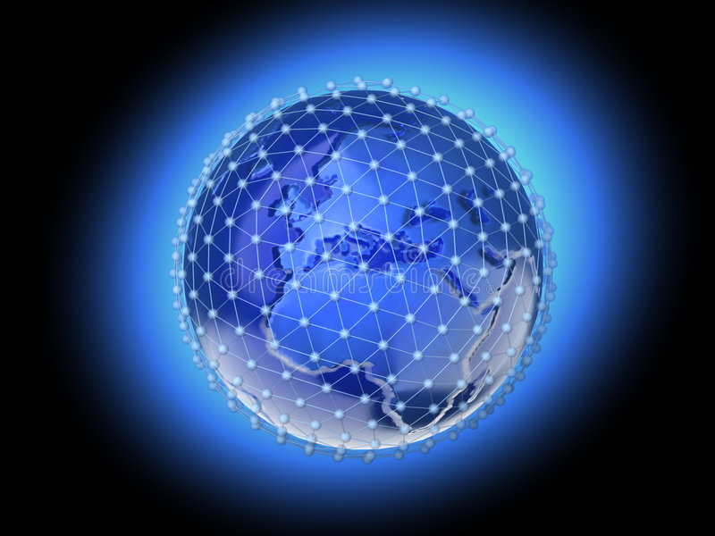 Erdenetz 3 lizenzfreie abbildung