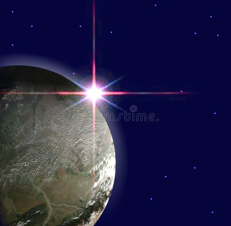 Erdeplanet stock abbildung