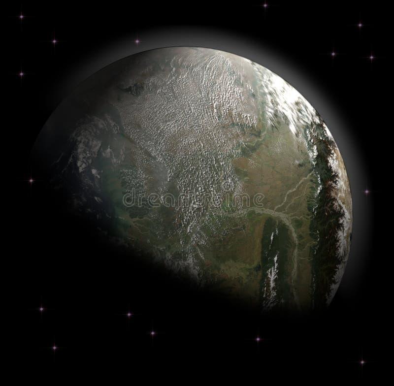 Erdeplanet lizenzfreie abbildung