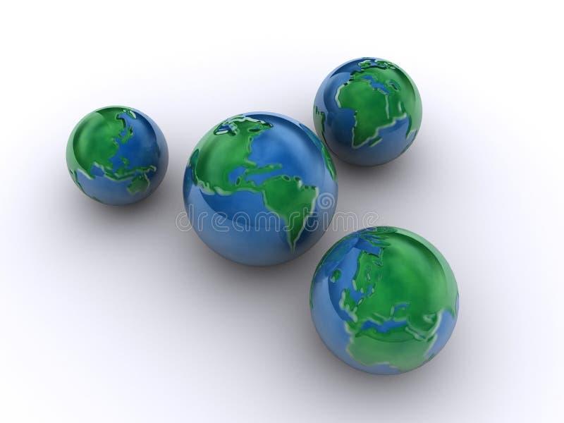 Erdeplaneten 3 lizenzfreie abbildung