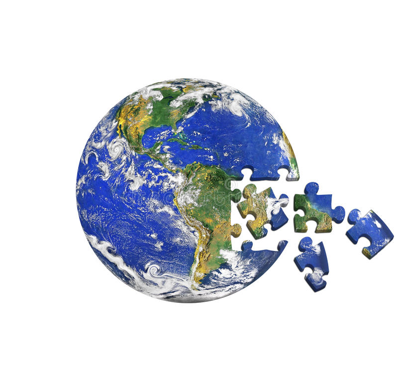 Erdepuzzlespiel stock abbildung