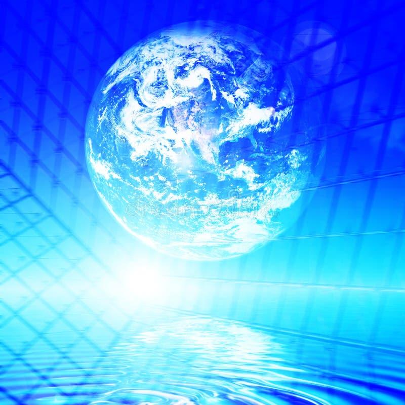 Erdetechnologiehintergrund vektor abbildung