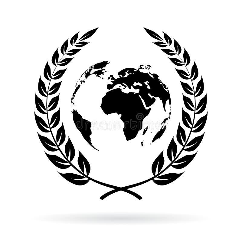 Erdfriedenssymbol stock abbildung