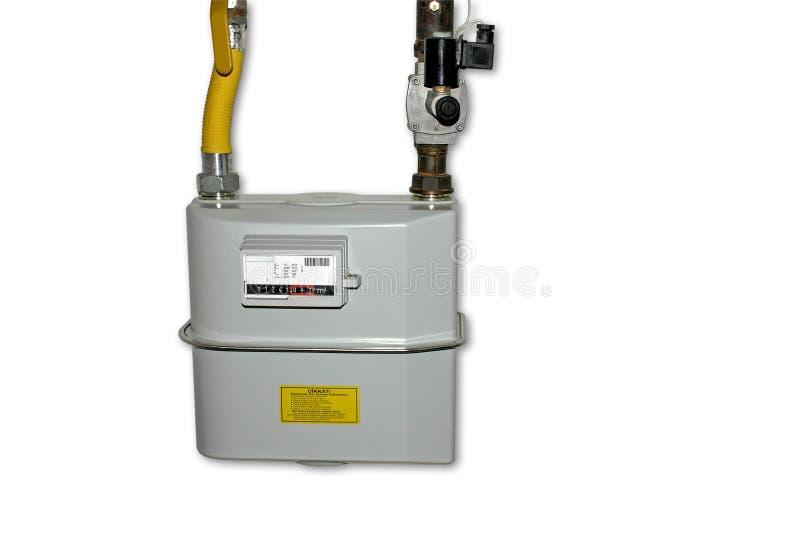 Erdgas-Messinstrument. Getrennt auf Weiß stockfotos