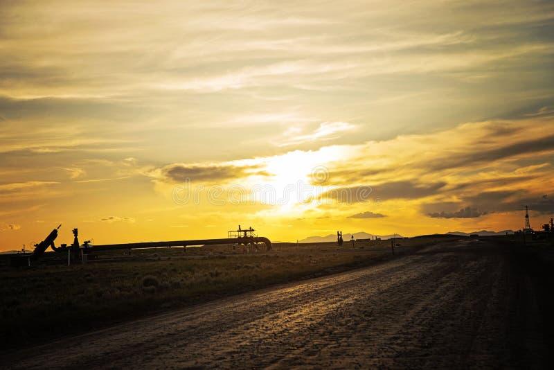 Erdgasfeld auf dem MESA lizenzfreies stockbild