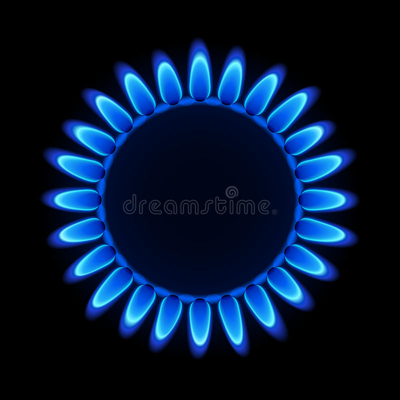 Erdgasflamme. Vektor. stock abbildung