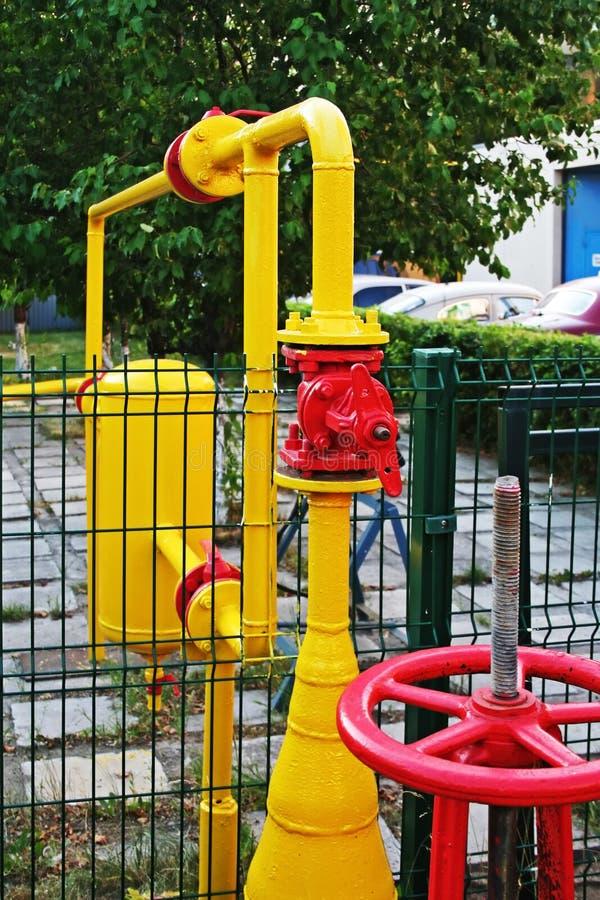 Erdgasleitung. lizenzfreies stockfoto