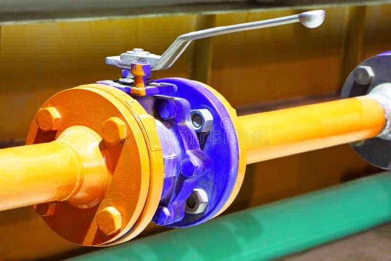 Erdgasleitungsventil lizenzfreies stockfoto