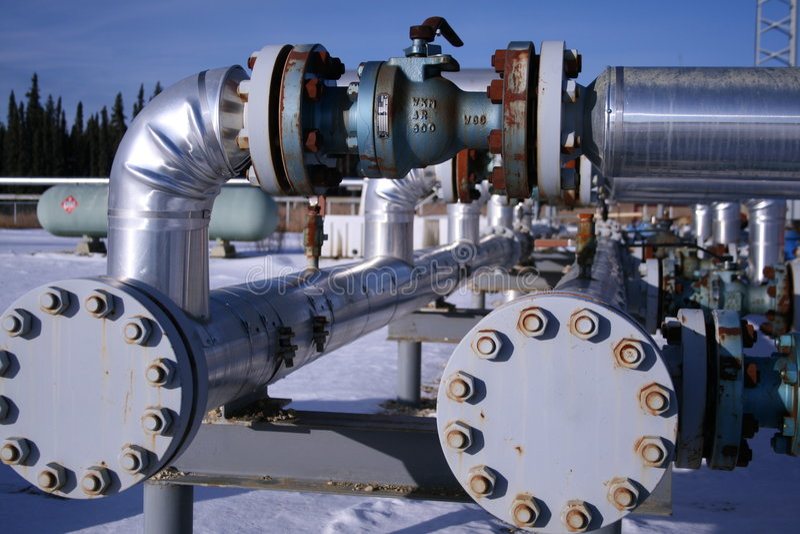 Erdgasrohre stockfotos