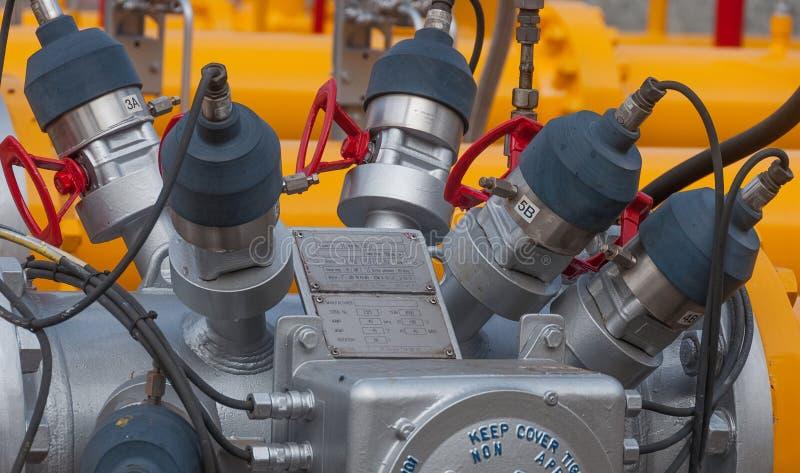 Erdgasultraschallströmungsmessersonde lizenzfreies stockfoto