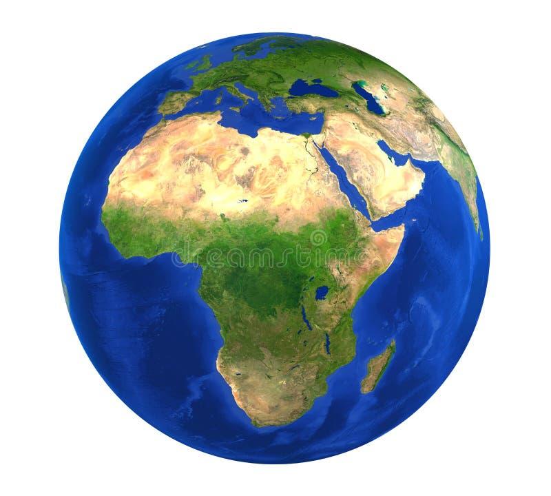 Erdkugel-Afrika-Ansicht lokalisiert vektor abbildung
