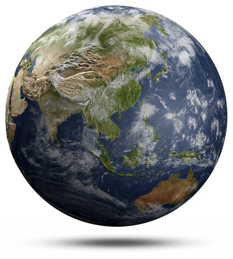 Erdkugel - Asien und Ozeanien stock abbildung