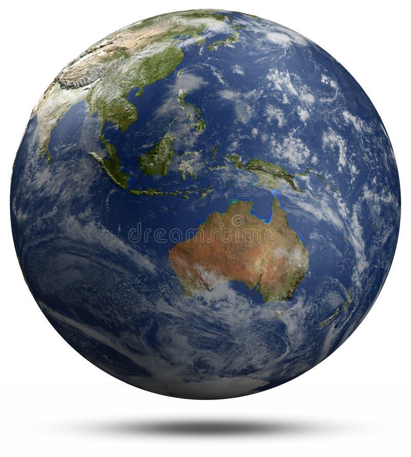 Erdkugel - Australien und Ozeanien lizenzfreie abbildung