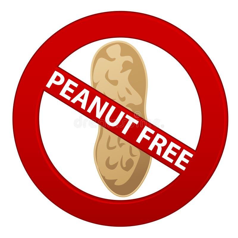 Erdnuss geben Symbol frei lizenzfreie abbildung