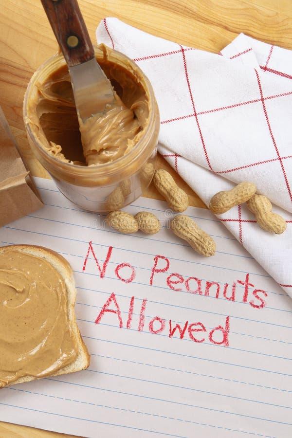 Erdnuss-WARNING lizenzfreies stockbild