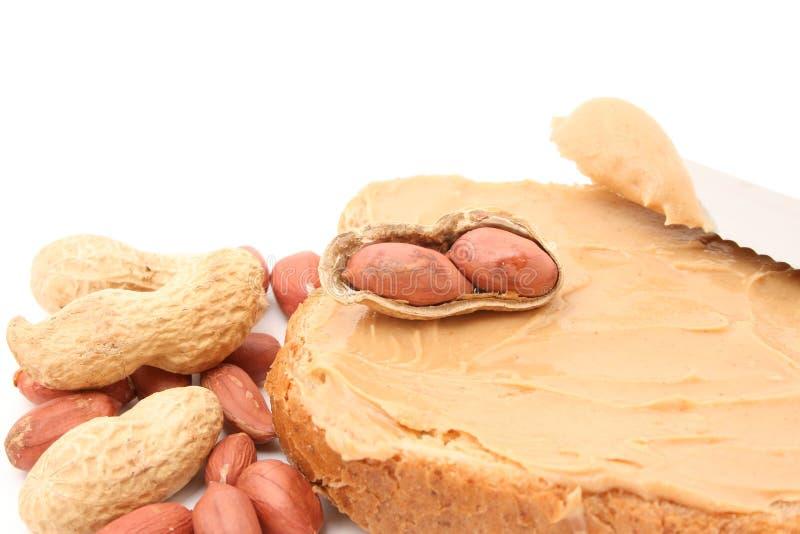Erdnussbutter stockbild