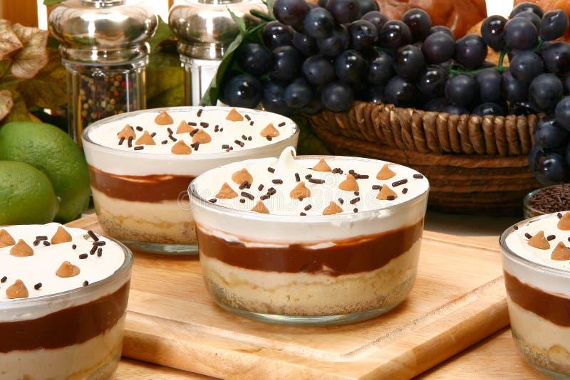 Erdnussbutter-Pudding stockfoto