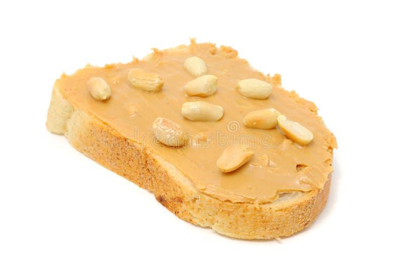 Erdnussbutter-Sandwich stockbild