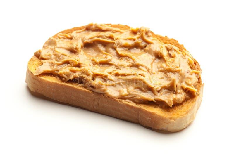Erdnussbutter-Toastbrot stockbilder