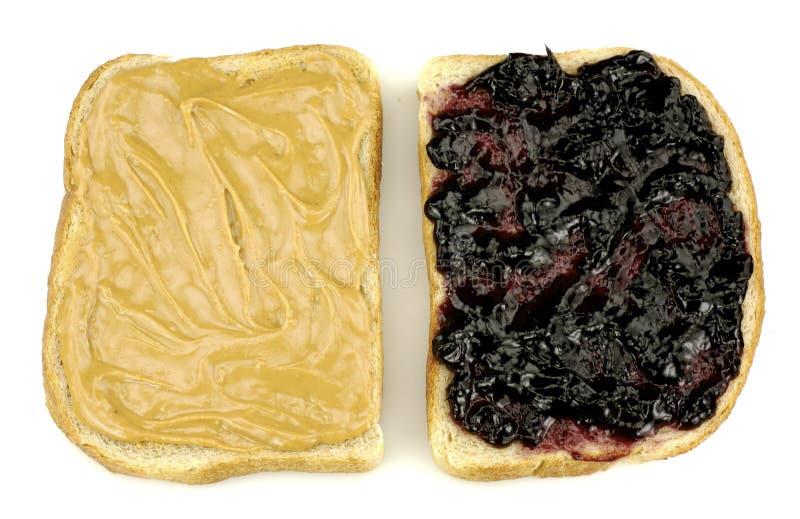 Erdnussbutter und Gelee-Sandwich stockfoto
