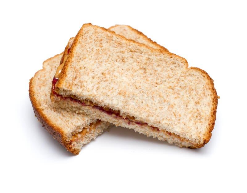Erdnussbuttersandwich stockfoto