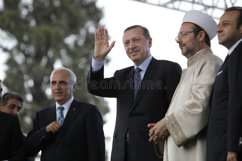 erdogan ministra primy recep tayyip fotografia stock