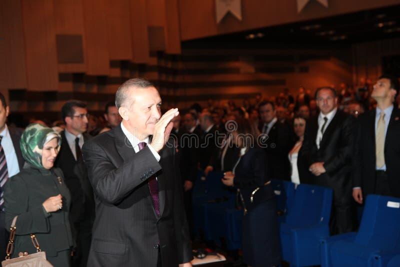 erdogan tayyip för ministerprimerecep arkivbild