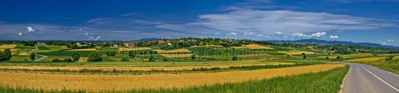 erdovec panoramy wioska obrazy royalty free