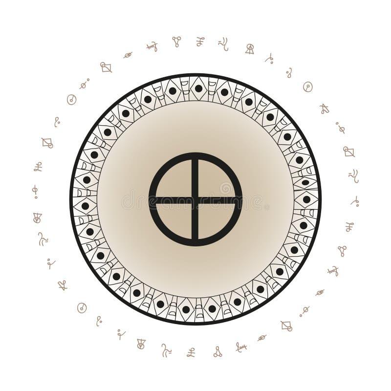 Erdplaneten-Symbolhintergrund vektor abbildung