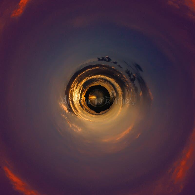 Erdplanetenraum-Naturuniversum d?mmerung lizenzfreies stockfoto