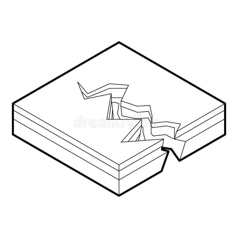 Erdsprungsikone, Entwurfsart lizenzfreie abbildung
