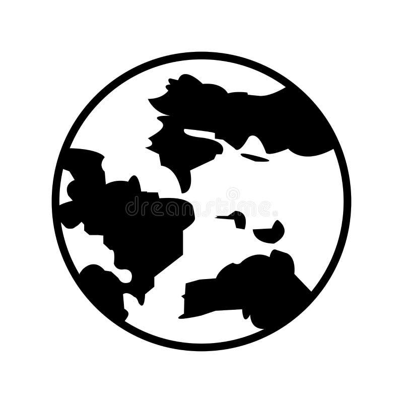 Erdsymbol Bedecken Sie Ikone mit Erde Kugel, Weltikone Bestes modernes flaches Piktogrammillustrationszeichen für Netz und mobile stock abbildung