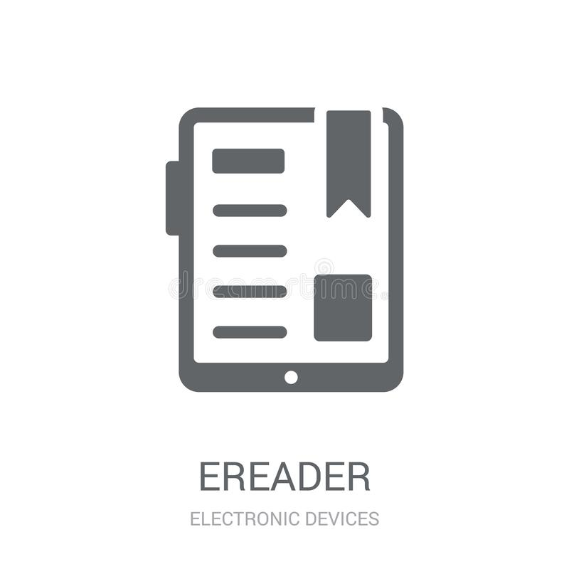 Ereader icon. Trendy Ereader logo concept on white background fr royalty free illustration