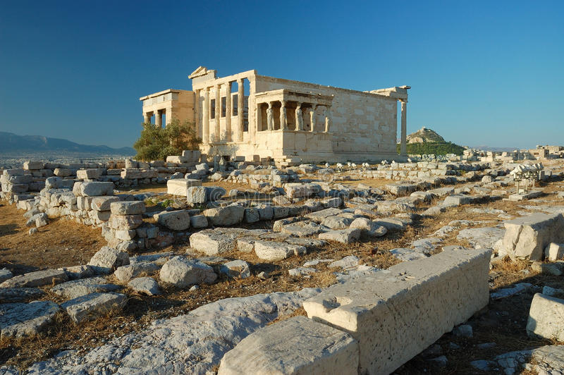 erechtheion obrazy stock