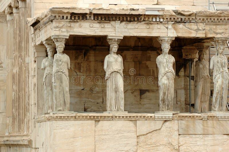 Erechtheion. Part of Acropolis in Athens stock photo