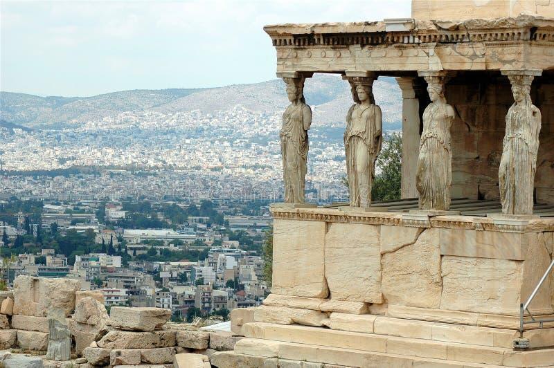 Erechtheion. Part of Acropolis in Athens stock photography