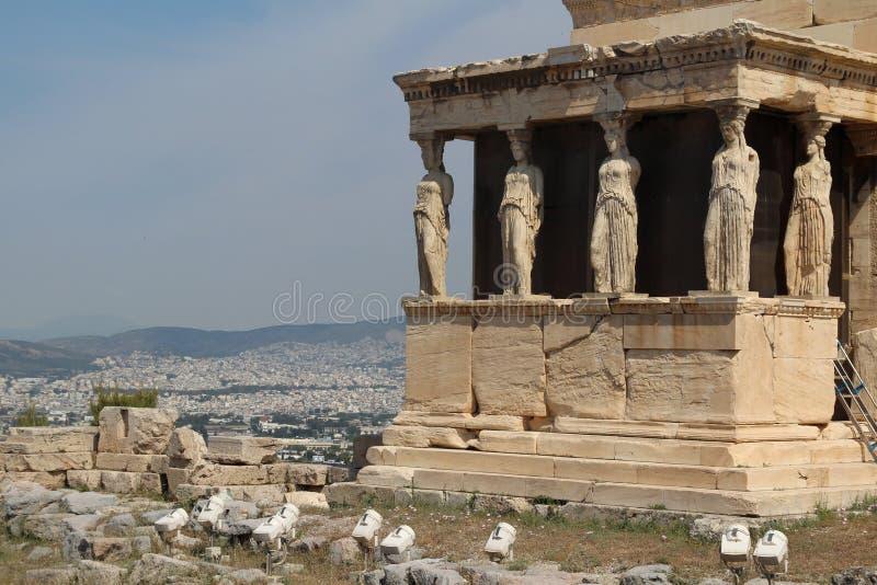 Erechtheion akropol Ateny zdjęcie stock