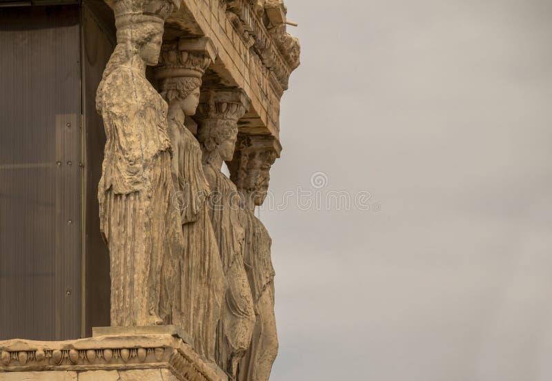 Erechtheion, Ateny, Grecja obraz royalty free