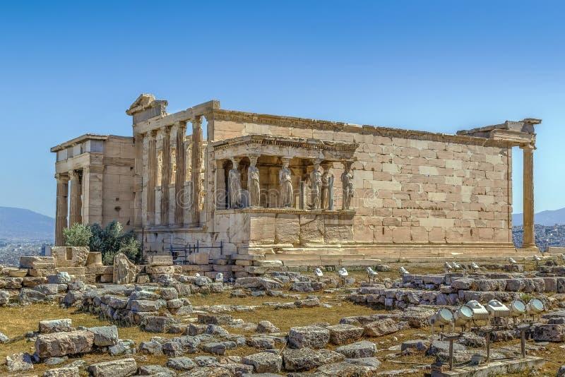 Erechtheion, Ateny, Grecja zdjęcia royalty free