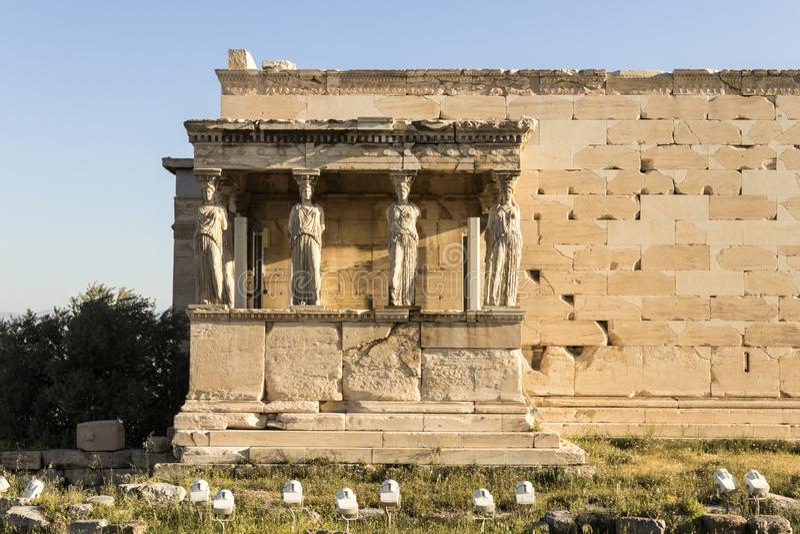 Erechtheion, Ateny, Grecja obraz stock