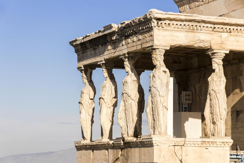 Erechtheion, Ateny, Grecja fotografia stock