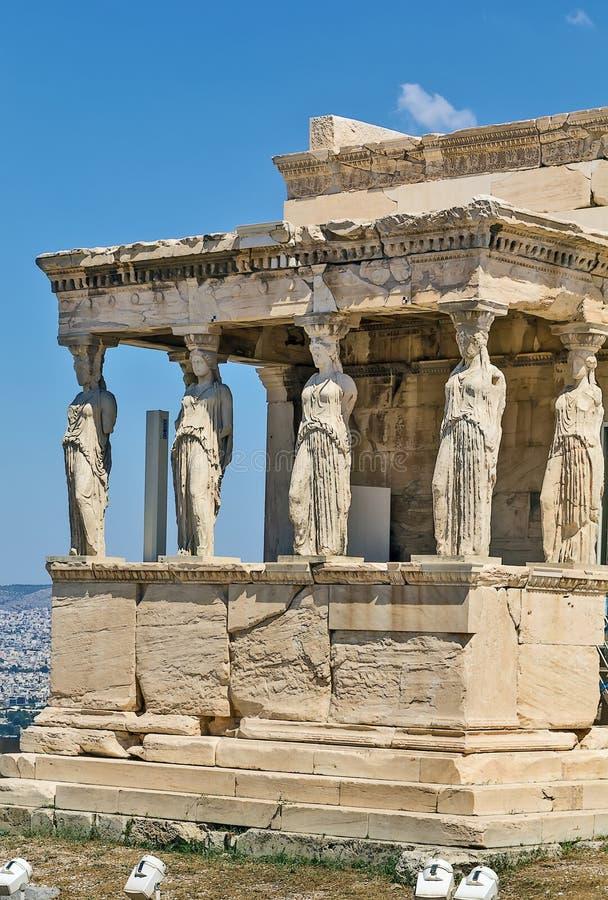 Erechtheion, Athènes images stock