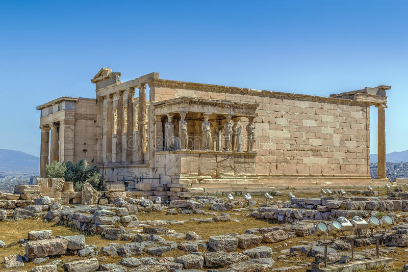 Erechtheion, Athènes, Grèce photos libres de droits