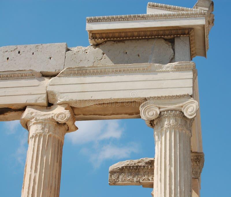 Erechtheion, columns royalty free stock photography