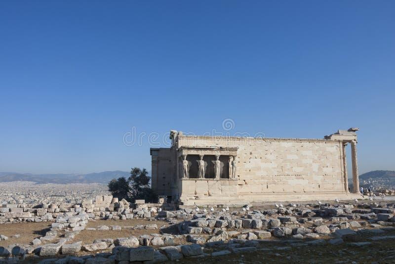 Erechtheion Erechtheum w Grecja zdjęcia royalty free