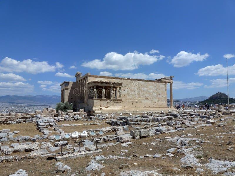 Erechtheion jest jeden główni przyciągania Antyczny Grecja fotografia stock