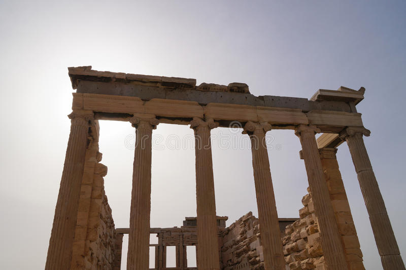 Erechtheion przy akropolem w Ateny, Grecja fotografia royalty free